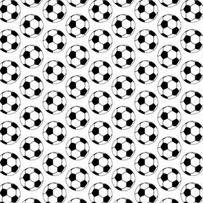 Soccer Ball  Pattern Black and White