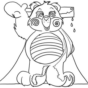 Killer carebear - embroidery template