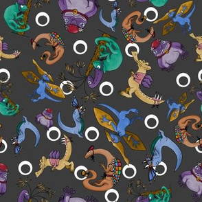 Dino Dress Up - Dark Gray