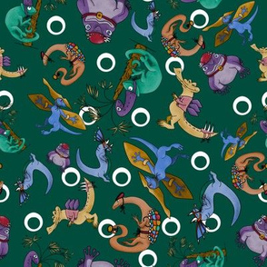 Dino Dress Up - Dark Green