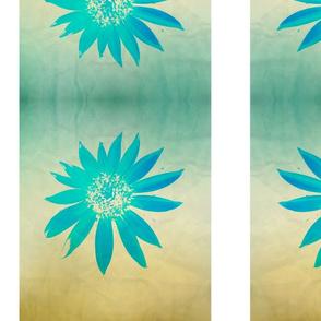 Sandy Beach Floral Repeat Stripe Pattern