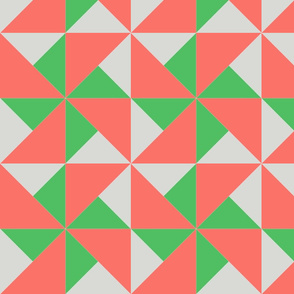 color block pinwheel pale gray