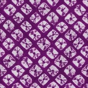 shibori simple squares in purple