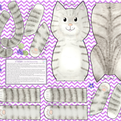 Violet Cut and Sew Cat Doll