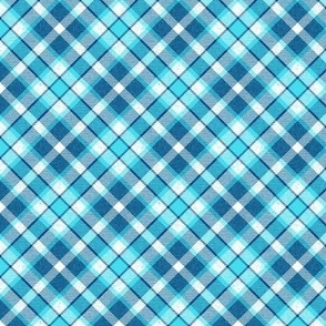 Colonial Blue and Icy Sky Blue Apple Plaid