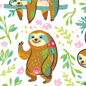 Floral sloths_big scale
