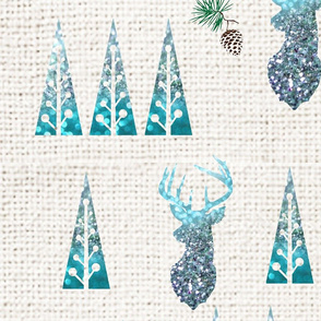 Deer and trees stylish