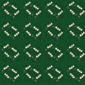 Katie sheep Pawprintes Colored Drk Green