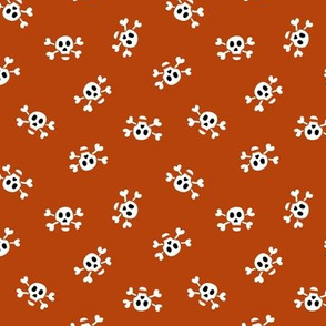 Skull & Crossbones // Rust Orange