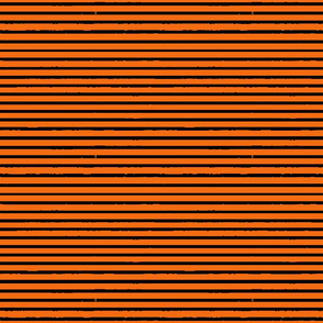 Pumpkin Orange and Black Tiger Stripes (horizontal)