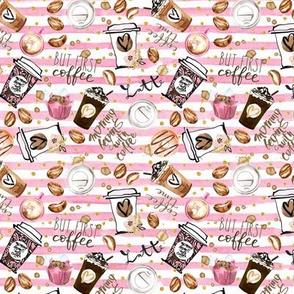 Latte Coffee Pink stripe