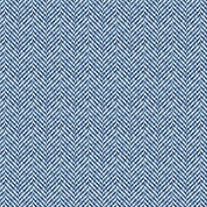 Herringbone Tweed in French Blue