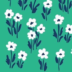 white flowerfield