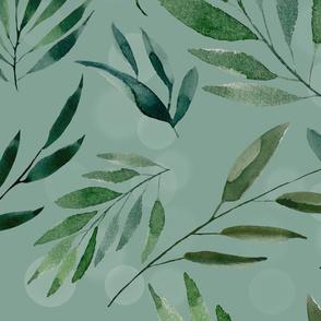 Botanical watercolor greenery in blue green C481CD5E-37B5-41AB-8877-72C8088A9794