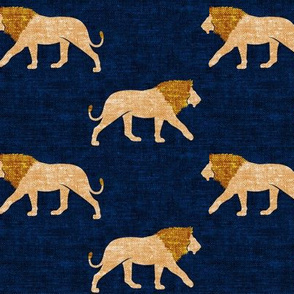 lions on navy - walking lions - LAD19