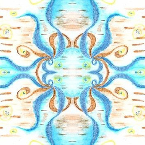 Spacial Rising Abstract Pattern Five