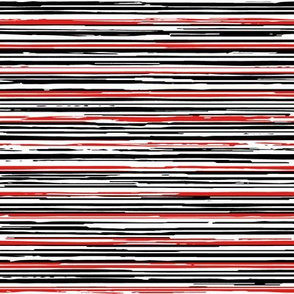 Textured Striped Black, Red and White