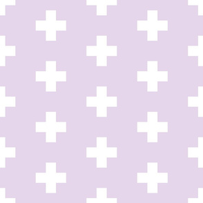 white swiss crosses on liliac | large scale