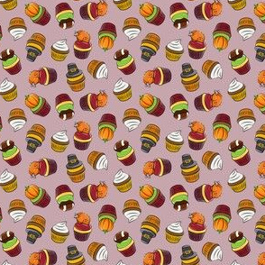 (micro scale) Thanksgiving cupcakes - mauve - LAD19BS