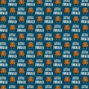 "(1/2"" scale) Little Turkey -  thanksgiving turkey - blue - LAD19BS"