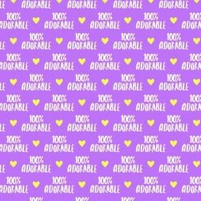 "(1/2"" scale) 100% adorable - purple  - LAD19BS"