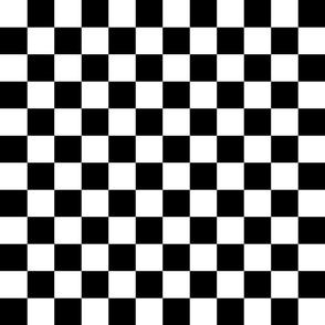 Checkerboard 1.5-inch Black & White