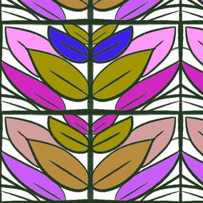 colourful leafy frame
