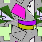 geometric language( pink &purple)