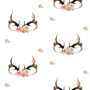 Floral antlers - rose golds