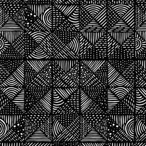 Teppich schwarzwei