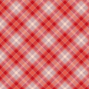 Coral Apple Plaid