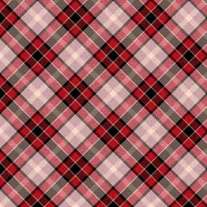 Cherry Pink and Black Apple Plaid