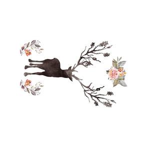 "9""x15""  Floral Winter Deer"