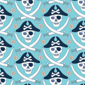 pieces of eight in sky blue