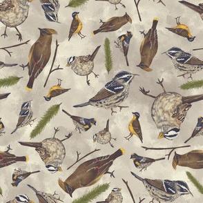 Neutral Birds - Light Brown