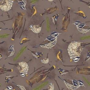 Neutral Birds - Dark Brown