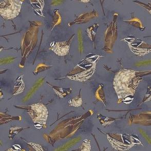 Neutral Birds - Dark Blue
