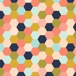 coral jubilee hexies // micro