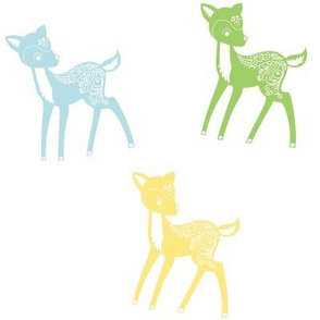 Blue, Green, Yellow Deer
