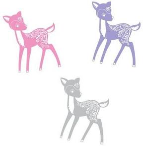 Pink, Purple, Gray Deer