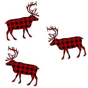 Tossed Buffalo Plaid Moose