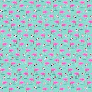 """(3/4"""" scale) Christmas Flamingos - Aqua C19BS"""