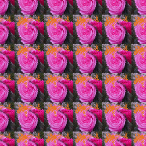 background pattern of twisted colorful flowers