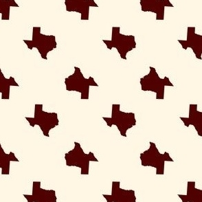 Texas Pattern Maroon