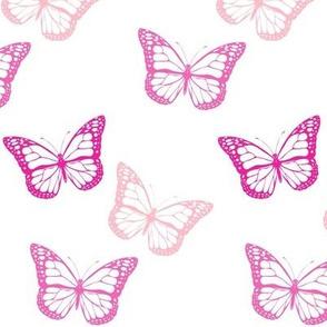 Tossed Pink Butterflies