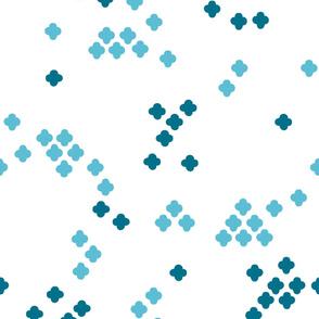 Geometric Cross Shapes Blue