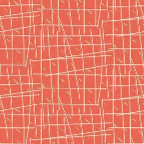 Fenced In in Coral & White