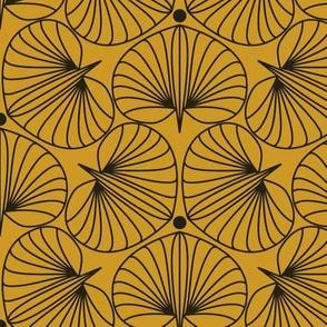 Stylized Flower in Marigold