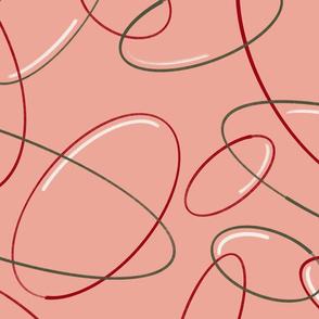 Mod Bubbles - Jumbo Scale - Terracotta Palette 1