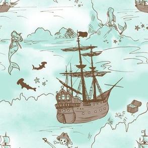 Mermaid and Pirate Cove
